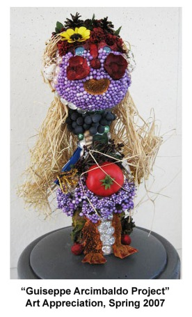Arcimbaldo Sculpture- Art Appreciation- College, 2008