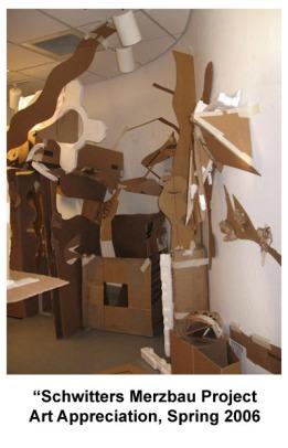 Schwitters Merzbau Installation- Art Appreciation- College, 2007