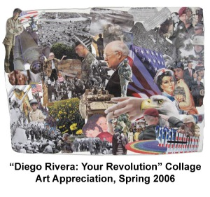 Diego Rivera Collage- Art Appreciation- College, 2008