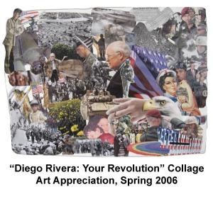 Diego Rivera Collage- Art Appreciation- College, 2008